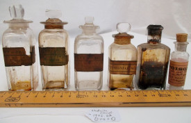 Medicine chest bottles