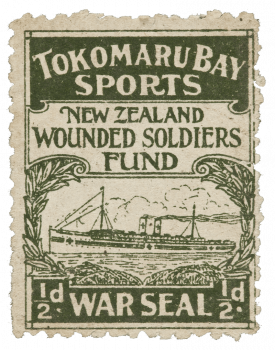 Tokomaru Bay Sports Wounded Soldiers War Seal