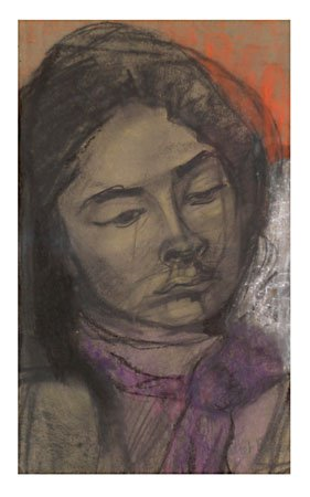 Juliet Bowen      Nellie     Pastel and charcoal on paper    460 X 275mm    76-114