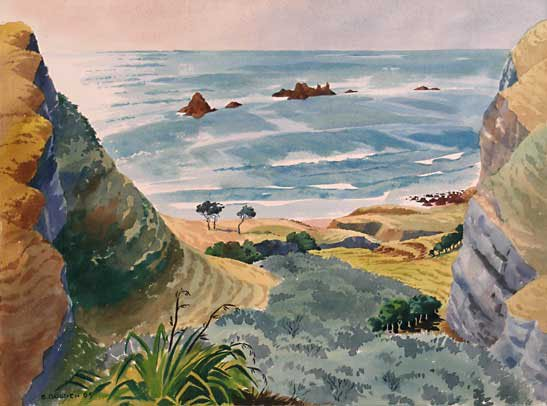 Stanley Budgen Cleft in the Rock, watercolour, 1991/53