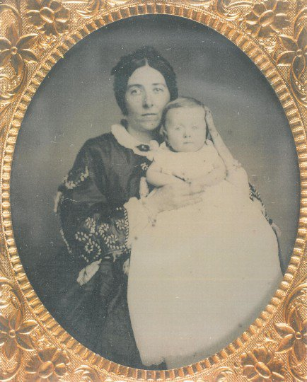 Ambrotype, possibly of Lucy and her daughter Ida Tiffen