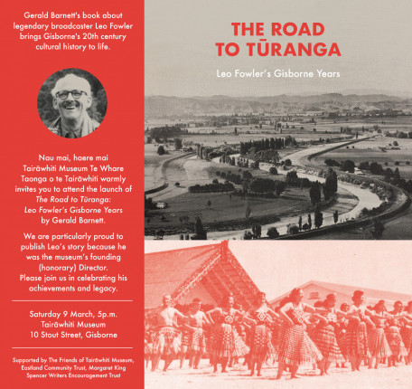 'The Road to Tūranga: Leo Fowler's Gisborne Years' book launch
