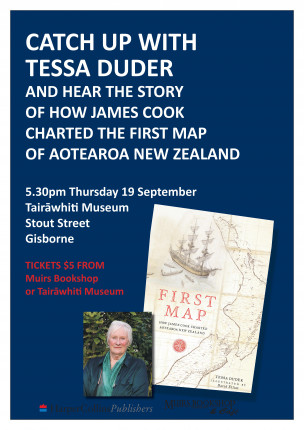 Meet Tessa Duder and hear the story of how James Cook charted the first map of Aotearoa New Zealand