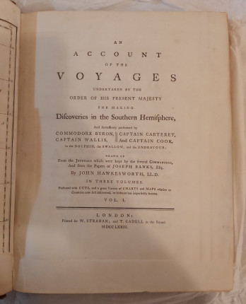 You can't always trust what you read – John Hawkesworth's 'An Account of the Voyages … [of] Captain Cook