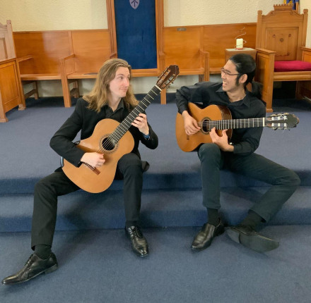 Te Koki Guitar Duo, Sirisan Sobhanasiri (Thailand) and Christopher Everest (New Zealand)